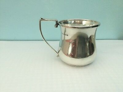 Solid sterling silver cup with hallmark