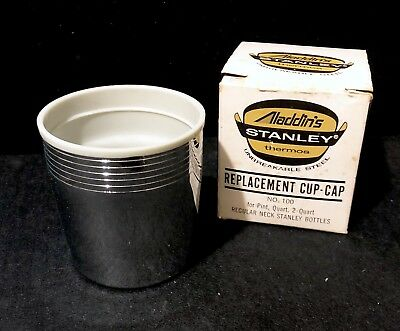VTG NOS Aladdin's Stanley Thermos #100 Replacement Cup Cap For Pint, 1 & 2 Quart