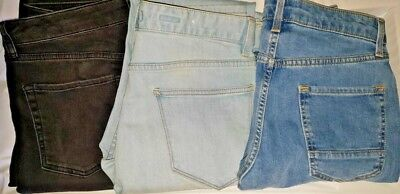 Topman/ Topshop mens stretch jeans slim and skinny reduced prices multi colours