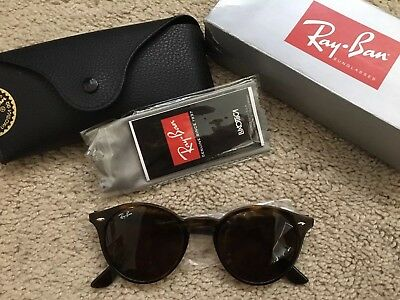254aba4fef RAY-BAN RB 2180 710 73 49-21 Plastic Round Sunglasses Brown Lens w ...