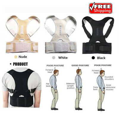 Magnetic Therapy Posture Corrector Brace Shoulder Back Support Belt - Men Women