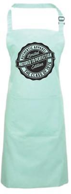 Year 1941 to 2000 Funny Birthday Aqua Cooking Apron Matured To Perfection Bbq