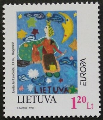 Europa, Tales and legends stamps, 1997, Lithuania, SG ref: 642 & 643, MNH