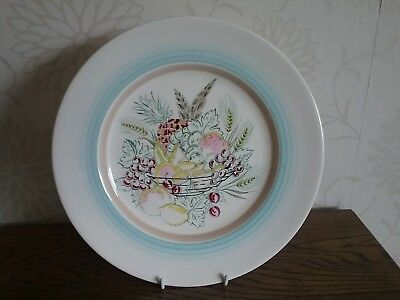 Grays pottery fruit basket 10.5 inch wall plate Art deco Susie Cooper interest