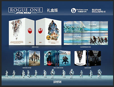 Rogue One A Star Wars Story 1-Click box set Steelbooks Blufans (Sealed)