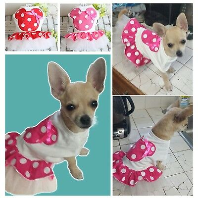 Dog Lace Skirt Princess Tutu Dress Clothes Apparel Costume For Small Pet Puppy