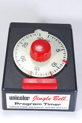 Unicolor glow in dark Jingle Bell Program darkroom timer   Excellent