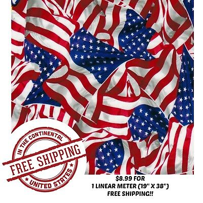 "Hydrographic Water Transfer Hydro Dip Film American Flag 2 1M (19""x38"")"