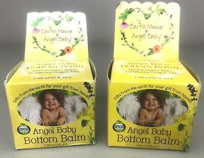 2 Earth Mama Angel Baby Bottom Balm 2 fl. oz. (New)