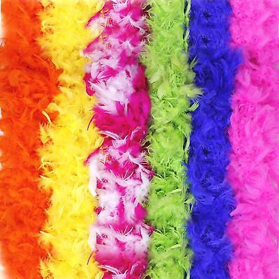 Deluxe 180cm Feather Boa 20s Flapper Burlesque Fancy Dress Hen Party Accessories