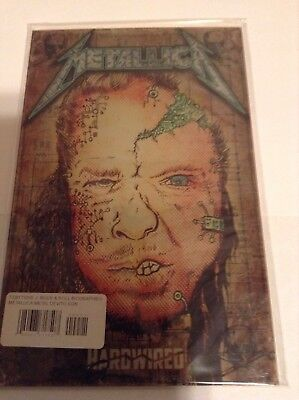 Metallica Rock & Roll Biographies #1 Devito Signed Auto 2017 Comic