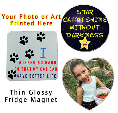 Personalised Collage Photo Art Custom Printed Thin Fridge Magnets Souvenir Gifts