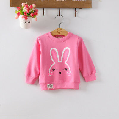 Baby Toddler Girl Tops Clothes Clothing Kids Girls Long Sleeves T-shirt Hoodies