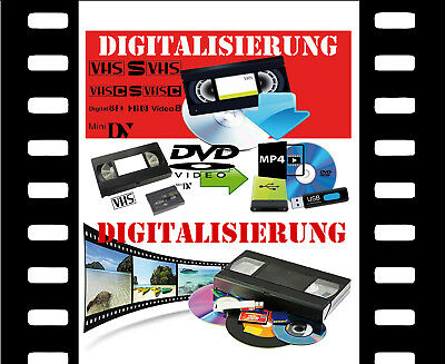 Analog VHS-C- Video 8, Hi8, MiniDV, D8, auf DVD digitalisieren