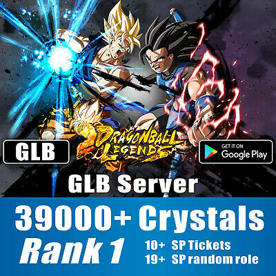 GLB DragonBall Legends Fresh Account 37000+ Crystals Android  INSTANT Email