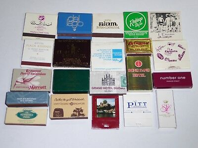 (21) 1970-1980s INTERNATIONAL AND DIFFERENT MATCHBOOKS & BOXES UNUSED *EX-MINT*