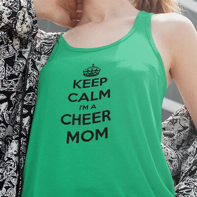 23b108ce7870 Keep Calm I'm A Cheer Mom Cheerleading Moms Mother Mothers Sports Women's  Tank