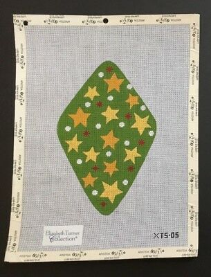 Elizabeth Turner Collection Hand-painted Needlepoint Canvas Large Ornament/Stars