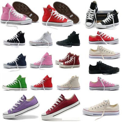 Celebrity Chuck Taylor High Low Tops Shoes Mens Womens Canvas Trainers Sneakers