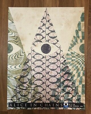 Alice In Chains Las Vegas Rainier Fog Concert Poster The Pearl 9/1/2018 SOLD OUT