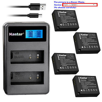 Kastar Battery LCD Dual Charger for Panasonic DMW-BLE9E DMW-BLG10 Lumix DMC-TZ80