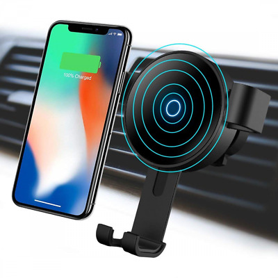 Wireless Car Charger Mount Gravity Air Vent Phone Holder 10W Fast Charge US SHIP