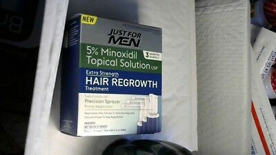Just For Men Extra Strength Hair Regrowth, 5% Minoxidil Topical Solution 10/2019