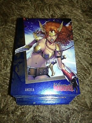 Women of Marvel Series 2 Cards, SAPPHIRE PARALLEL SET, Complete x90 Cards