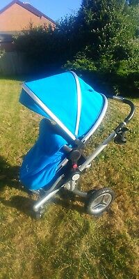 Silver Cross Surf 2 Pushchair Used Good Condition Sky Blue Stroller Pushchair