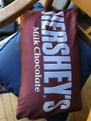 Hershey's Milk Chocolate Candy Bar Brown Pillow