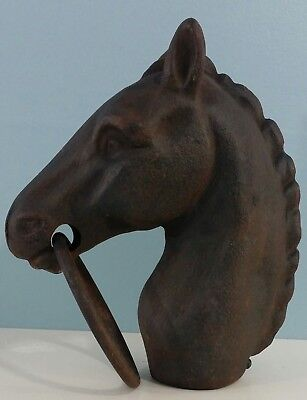 Vintage Cast Iron Horse Head Hitching Post Hitch Post Finial Fence Topper Cap