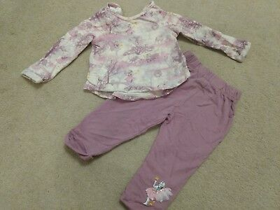 Monsoon 6-9-12 months baby girls purple jumper trousers outfit [I combine post]