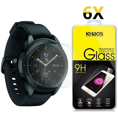 6-Pack Khaos For Samsung Galaxy Watch 42mm Tempered Glass Screen Protector