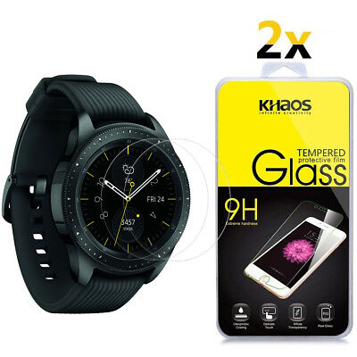 2-Pack Khaos For Samsung Galaxy Watch 42mm Tempered Glass Screen Protector