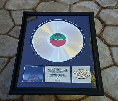 ABBA ARRIVAL Gold Record Framed Atlantic Records American Academy Music WEA