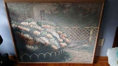 Frank Ferrante Vintage Framed Original Oil on Canvas Painting