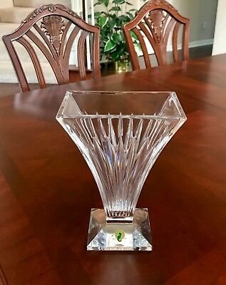 Waterford Crystal Seahorse Vase 10 Never Used 18050 Picclick