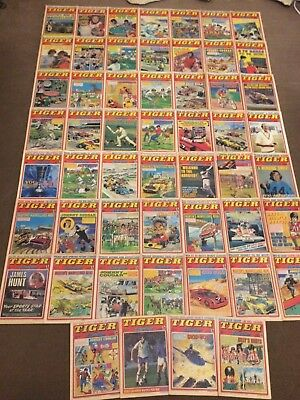 53 x TIGER comics from 1977 - Complete Year