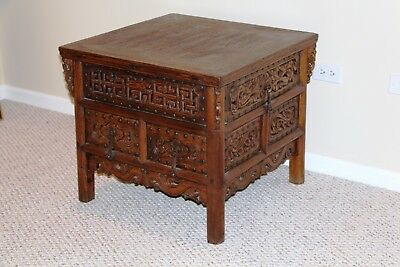 18thC Chinese Kang Table with 6 Drawers - Inv# M2QF031