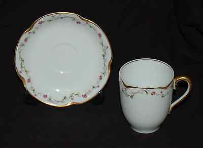 One Demitasse Cup and Saucer Set Haviland Limoges France Schleiger 286A