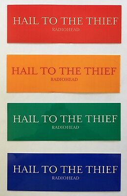 Radiohead Hail to the Thief RARE promo sticker set '03 (4 different colors)