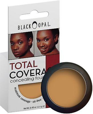 Black Opal Total Coverage Concealing Foundation Truly Topaz Max Oil Free .40 oz