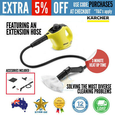 Karcher Steam Cleaner Handheld Multi Cleaning Tool Floor Mop Carpet Steamer Wash