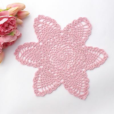 Crochet doily in pink 30 cm for millinery , hair and crafts