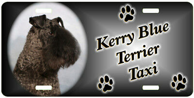 Kerry Blue Terrier Taxi Line License Plate  ((SPECIAL LOW CLEARANCE PRICE ))