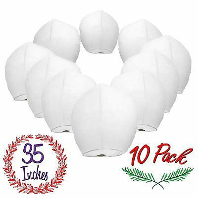 Chinese Sky Lanterns White Paper (10) Pack - Ready to Use and Eco Friendly - XL