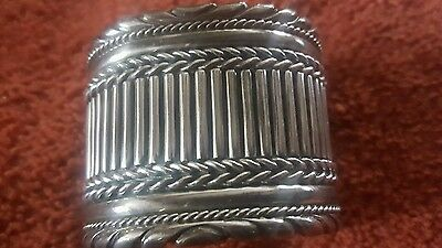 vintage heavy silver handcrafted cuff