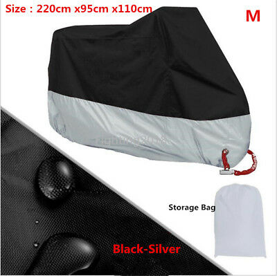 All Season Motorcycle Scooter Cover Waterproof Sun Dust Rain Protector Cover M