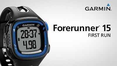 Garmin Forerunner 15 GPS Watch Black and Blue