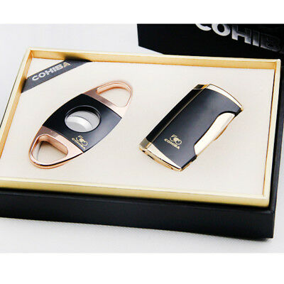 Cohiba 50th Anniversary Limited Edition Black 2 Flame Cigar Lighter Cutter Set